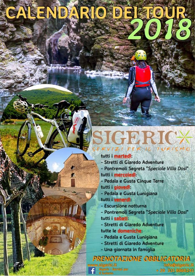 Il calendario degli eventi organizzati dalle guide di Sigeric