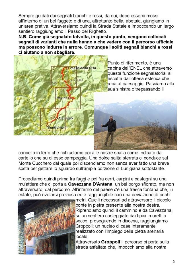 Via Francigena: Cavezzana D'Antena e Groppoli
