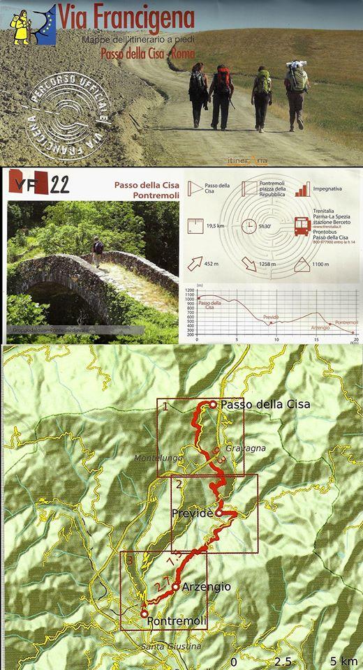 Via Francigena: il tracciato tappa Passo della Cisa-Pontremoli