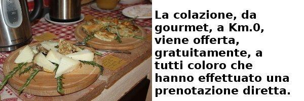 Colazione offerta gratuitamente a chi effettua prenotazione diretta.