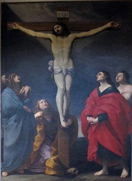 Chiesa di San Francesco a Pontremoli: crocifissione opera di Guido Reni