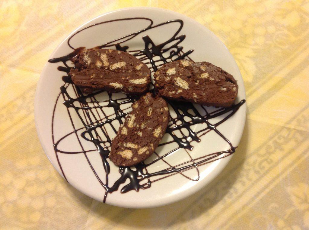 Ristorante Marietta: il salame di cioccolato