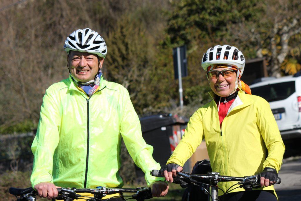 Ospiti del B&B in bici sulle strade della Toscana