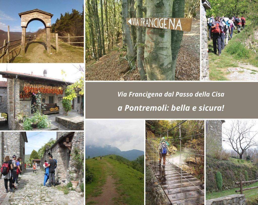 Immagini della tappa ufficiale di Via Francigena dal Passo della Cisa a Pontremoli